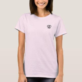 der T - Shirt der lesbischen Symbolfrauen