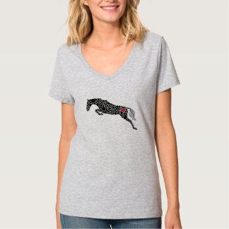 Der T - Shirt der Pullover-Liebe-Frauen