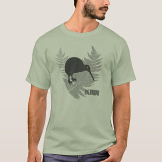 Der T - Shirt der silberner Farn-Kiwi-Männer