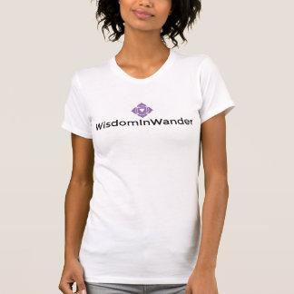 Der T - Shirt der WisdomInWander Logo-/Text-Frauen