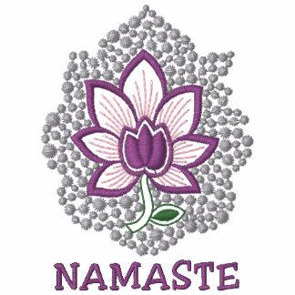 Der T - Shirt der Yoga-Namaste gestickten Frauen