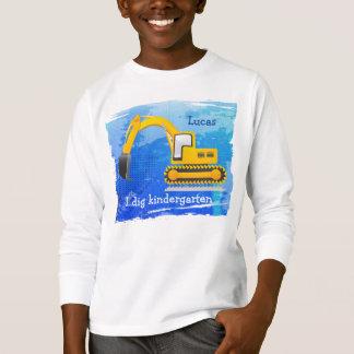 Der T - Shirt des Löffelbagger-Kindes