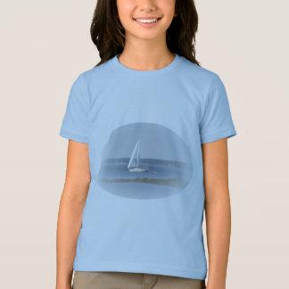 Der T - Shirt des Ozean-Segel-Mädchens