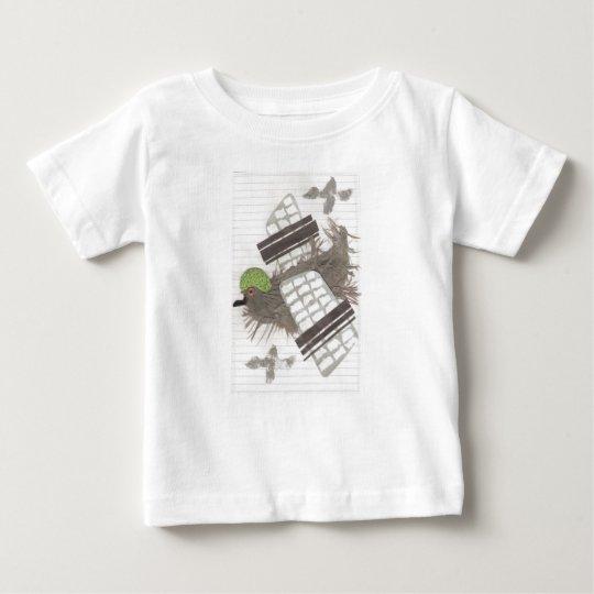 Der T - Shirt des Tauben-Flugzeugbabys