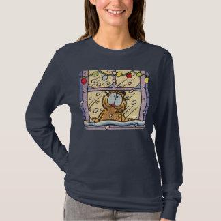 Der T - Shirt Garfield-Weihnachtsabends-Frauen