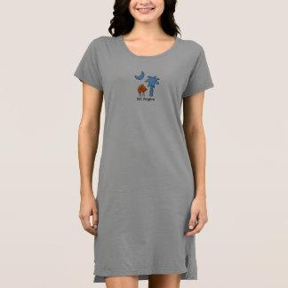 Der T - Shirt-Kleid der Frauen Kleid