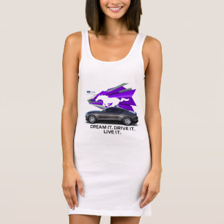 Der T - Shirt-Kleid der Mustangcustomizer-Frauen Ärmelloses Kleid