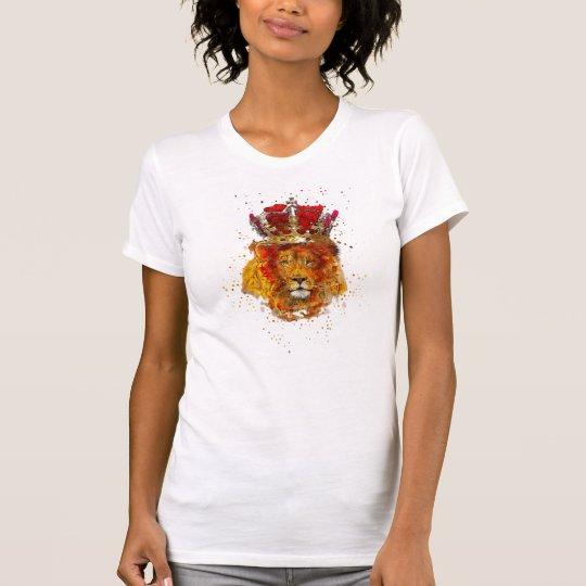 Der T - Shirt-Löwe-Tierkönigreich der Frauen T-Shirt