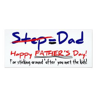 Der Tag 1 des glücklichen Stiefvaters - Karte 10,2 X 23,5 Cm Einladungskarte