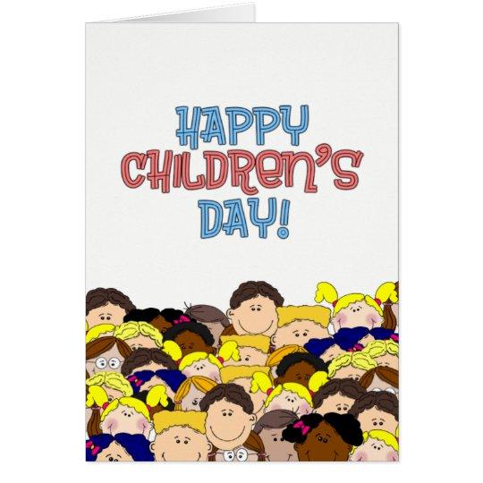 Der Tag der glückliche Kinder - lächelnde Kinder Grußkarte
