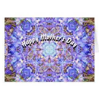 Der Tag der Hyazinthen-Mandala-Mutter Grußkarte
