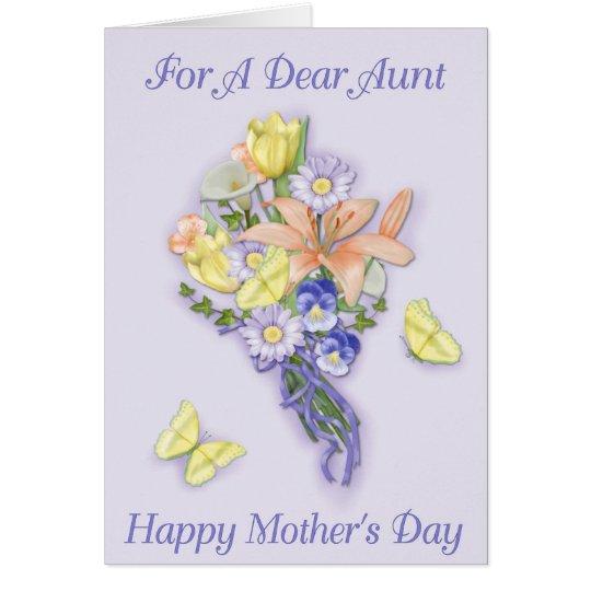 Der Tag der Lavendel-Blumenstrauß-Mutter Grußkarte