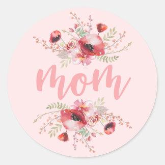 Der Tag der Mutter des Blumenstrauß-| Runder Aufkleber