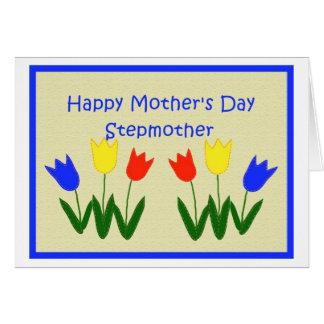 Der Tag der Mutter für Stiefmutter Grußkarte