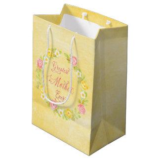 Der Tag der Mutter - hübsche Watercolor-Rosen 3 WA Mittlere Geschenktüte