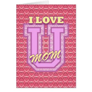 Der Tag der Mutter: I Liebe Sie Mamma Karte