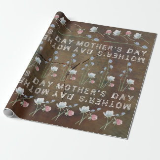 Der Tag der Wildblume-Eichen-Holz-Mutter Geschenkpapier
