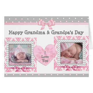 """Der Tag des rosa u. grauen Großvaters """"ich Liebe, Grußkarte"""