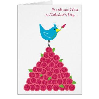 Der Tag des Valentines die eine i-Liebe-Drossel Karte