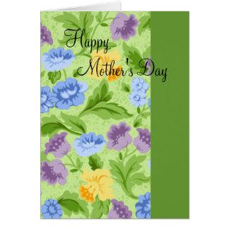 Der Tag Frühlings-Blumen Mutter Karte