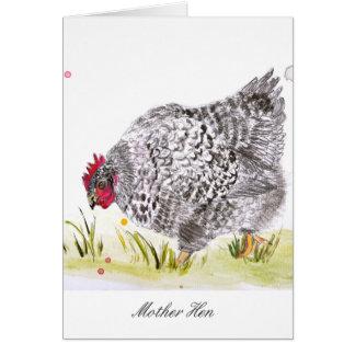 Der Tag Hennehuhn-Grußkarte Mutter Karte