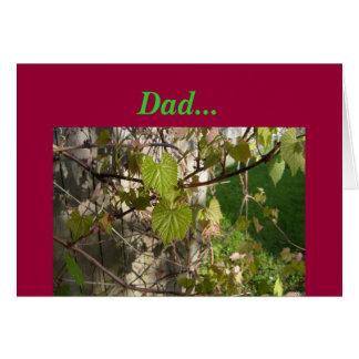 Der Tag Traube Rebe-Väter Grußkarten