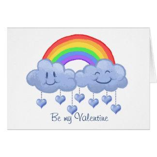 Der Tag Wolken-Liebe Valentines Grußkarte