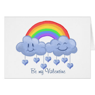 Der Tag Wolken-Liebe Valentines Karte