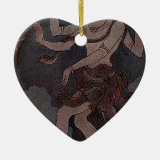 Der Tanz von Shiva Keramik Herz-Ornament