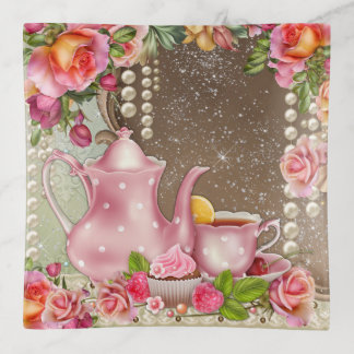 Der Tee-Thematrinket-Teller der Frau Dekoschale