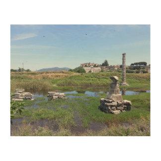 Der Tempel der Artemis in Ephesus, die Türkei Holzdruck