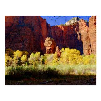 Der Tempel von Sinawava, Zion, Utah, Postkarte
