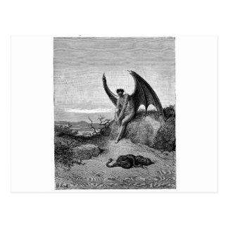 Der Teufel, Gustave Dore Postkarte