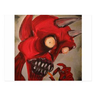 Der Teufel isst Käse-Hauche Postkarte