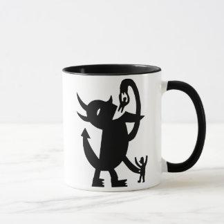 Der Teufel und zwei Freunde Tasse
