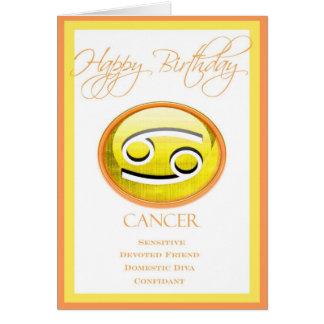 Der Tierkreis-Geburtstags-Karte der Diva für Krebs Karte