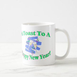 Der Toast des neuen Jahres Kaffeetasse