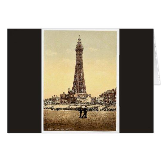 Der Turm, Klassiker Photochrom Blackpools, England Grußkarte