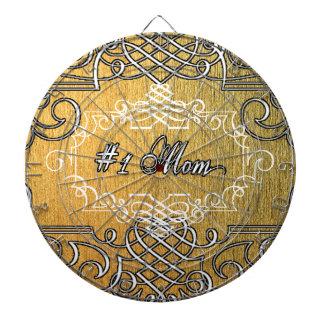 der Typografie-Mutter der Mammas #1 der goldene Dart-scheibe