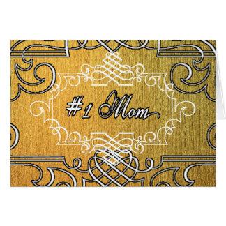 der Typografie-Mutter der Mammas #1 der goldene Grußkarte