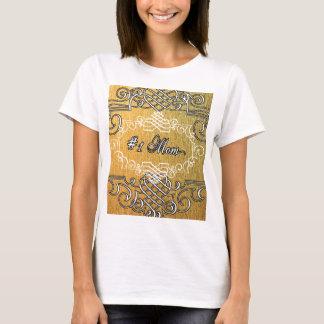 der Typografie-Mutter der Mammas #1 der goldene T-Shirt