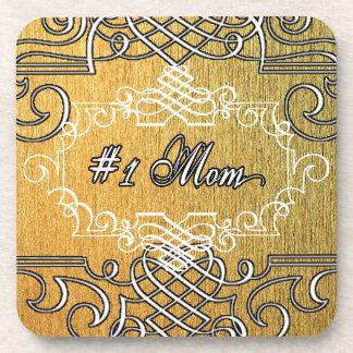 der Typografie-Mutter der Mammas #1 der goldene Untersetzer