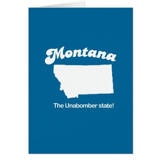 Der unabomber Staat T - Shirt Montanas - Grußkarte