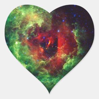 Der unicorns-Rosen-Rosette-Nebelfleck Herz-Aufkleber