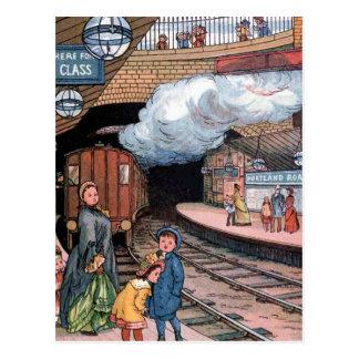 """""""Der Untergrund, Vintage Illustration Londons"""" Postkarte"""