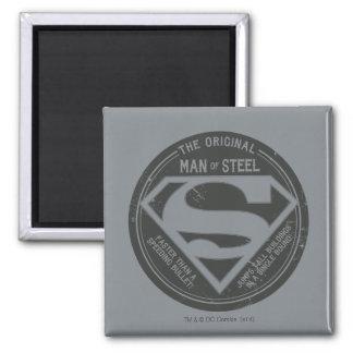 Der ursprüngliche Mann des Stahls Quadratischer Magnet