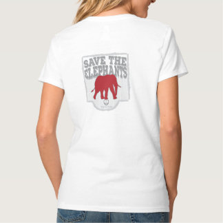 Der V-Hals der Frauen retten die Elefanten T-Shirt