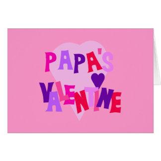 Der Valentinsgruß des heißen Farbherz-Papas Karte