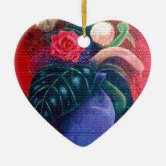 Der Vase Keramik Herz-Ornament