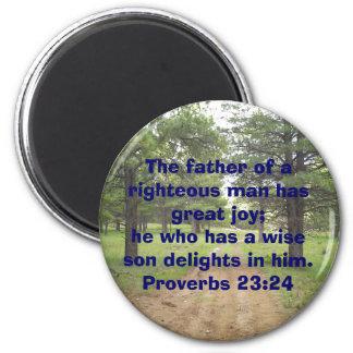 Der Vater eines righteo… Runder Magnet 5,7 Cm